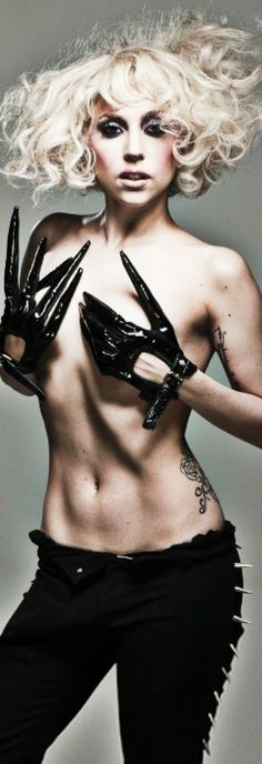 Lady Gaga! I miss her short curly blonde hair..