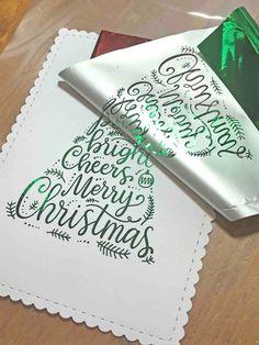 Loki Made It: Foiled Christmas Card Tutorial
