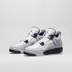 Air Jordan 4 Retro - White/Midnight Navy/Legend Blue