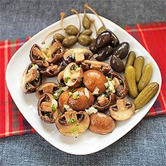 Nakládané žampiony. Kimchi, Potato Salad, Stuffed Mushrooms, Potatoes, Cookies, Canning, Vegetables, Ethnic Recipes, Food