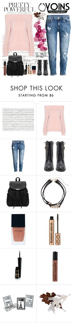 """""""Pretty Pink🎀"""" by smiley-aarzoo ❤ liked on Polyvore featuring Brewster Home Fashions, H&M, Apt. 9, Witchery, NYX and Dot & Bo"""