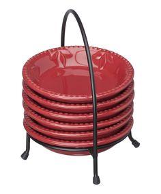 Signature Housewares Burgundy Sorrento Dip Bowl Set #Red #zulily