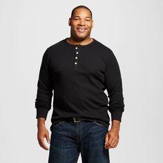 Men's Big & Tall Long Sleeve Thermal Henley