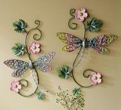 Good Luck Dragonfly Metal Wall Art Decor