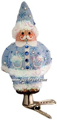 Charming Claus; Blue: Patricia Breen Ornaments