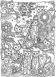 Gatos para colorear 17 Cat Coloring Page, Animal Coloring Pages, Coloring Book Pages, Printable Coloring Pages, Coloring Sheets, Coloring Worksheets, Dora Coloring, Frozen Coloring, Fairy Coloring
