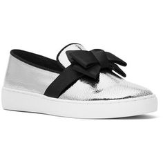 Michael Kors Collection Val Metallic Leather Skate Sneakers