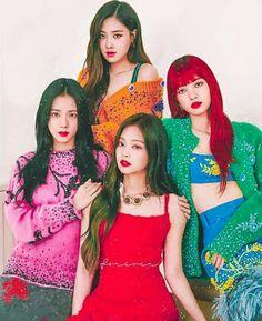 BlackPink (all red! Kpop Girl Groups, Korean Girl Groups, Kpop Girls, Blackpink Fashion, Korean Fashion, Yg Entertainment, Forever Young, Oppa Gangnam Style, Jenny Kim