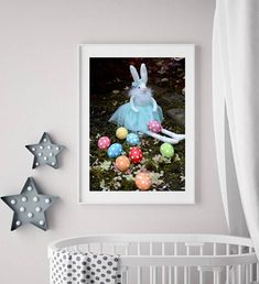 Easter Bunny digital instant download Nursery art Easter art