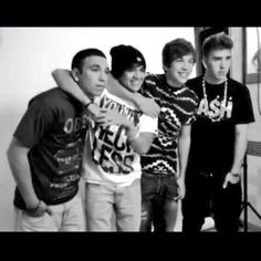 The crew~ Robert Villanueva, Alex Constancio, Austin Mahone, and Zach Dorsey:)
