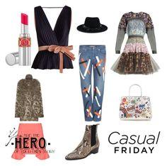 """casual friday"" by veeranalla ❤ liked on Polyvore featuring Natasha Zinko, Maison Michel, Christopher Kane, Roksanda, Alexander Wang, The Archive, Yves Saint Laurent, Anya Hindmarch, Marni and WALL"