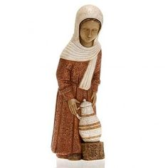 Pastora con ánfora y vestido rojo | venta online en HOLYART