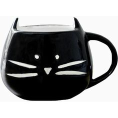 Black Cat Coffee Mug (€13) ❤ liked on Polyvore featuring home, kitchen & dining, drinkware, filler, black cat coffee mug, coffee mugs and coffee cup