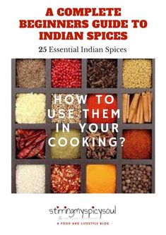 "Get my E-book on ""A Complete Beginners Guide to Indian Spices"" My E-Book will walk you through the 25 essential spices you will ever need, to master the art of Indian cuisine.  Don't let the fear of not knowing how to use spices in cooking intimidate you from trying to cook flavorful and delicious Indian food in your own kitchen."