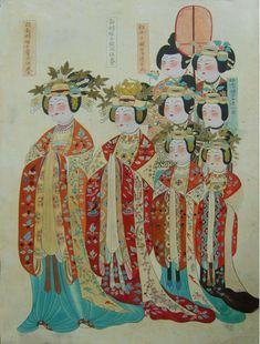 Still need to find a better citation for this image of later Tang clothing.