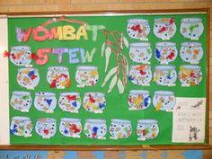 Australia~Wombat Stew Cutting Activities, Animal Activities, Literacy Activities, Activities For Kids, Preschool Ideas, Teaching Resources, Wombat Stew, Class Displays, Kindergarten Lessons