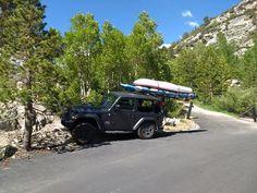 Hitchmount-Rack in the Sierras! Kayak Rack, Mojave Desert, Fish Camp, Kayak Fishing, Kayaking, Jeep, Camping, Outdoor Camping, Jeeps