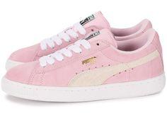 Chaussures Puma Suede Junior rose vue extérieure