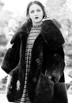 Viola Dana on the set of Dangerous to Men (1920)