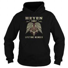 Awesome Tee HEYEN Family Lifetime Member - Last Name, Surname TShirts T-Shirts