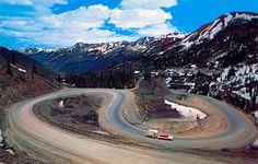 milion dollar highway colorado | ... Mountain Pass on Million Dollar Highway near Red Mountain, Colorado