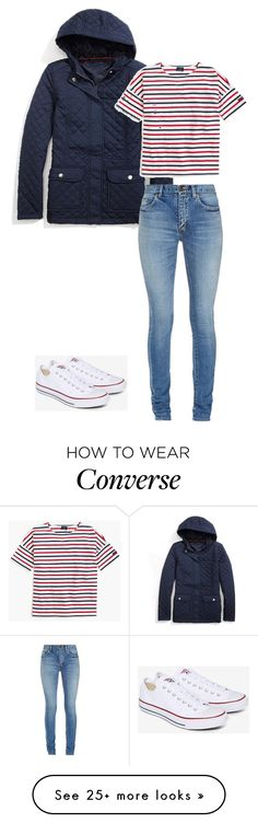"""""""Unbenannt #33"""" by madi-tha on Polyvore featuring Tommy Hilfiger, Yves Saint Laurent, Saint James and Converse"""