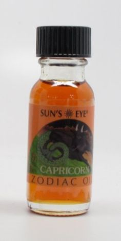 Capricorn - Honeysuckle - Sun's Eye Zodiac Oils - 1/2 Ounce Bottle by Sun's Eye Zodiac Oils. $8.29. Sun's Eye Oil made from aromatic herbs, blossoms, leaves, spices, woods, resins and essential oils.. 1/2 ounce bottle of high quality Sun's Eye brand oil.. Capricorn - Honeysuckle with woody herbs. To encourage the qualities of methodology, responsibility and industriousness, and for matters of practicality, materialistic stability and self discipline. 1/2 ounce bottle ...