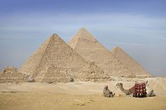 The three Pyramids of Giza, which have historically loomed large as emblems of ancient Egypt in the Western imagination, for more information please visit  http://www.travel2egypt.org/tours/cairo-luxor-aswan-and-abu-simble/egypt-and-the-nile-8422_101/