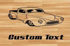 Truck Hot Rod 2 Car Wall Decal - Auto Wall Mural - Vinyl Stickers - Boys Room Decor