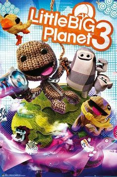 Little Big Planet 3 : Cover - Maxi Poster x new and sealed Little Big Planet, Under The Rain, Big Plants, Adventure Games, Call Of Duty Black, How To Introduce Yourself, Cover Art, Planets, Design Projects