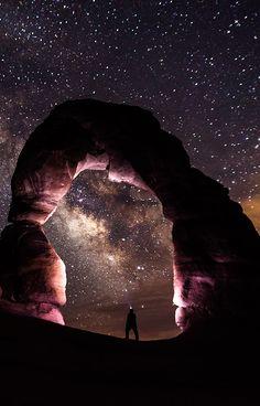 Delicate Arch at Night, Utah