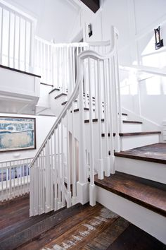Washington School House Hotel - The luxury boutique hotel in Park City, Utah. An exclusive Park City boutique hotel where you can expect… well, the unexpected. Painted Banister, Banisters, Painted Wood, Wood Staircase, Wooden Stairs, Flooring For Stairs, Wood Flooring, Rustic Luxe, Rustic Wood