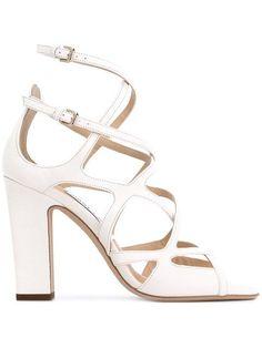 78cb851d77c3da  jimmychoo  shoes  sandals  JimmyChooHeels White Block Heel Sandals
