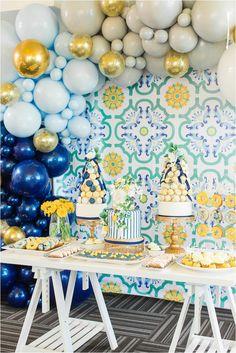 Mehwish's Amalfi Inspired Baby Shower 26th Birthday, First Birthday Cakes, First Birthday Parties, First Birthdays, Baby Shower Parties, Baby Shower Themes, Baby Boy Shower, Shower Ideas, Baby Shower Photography