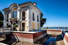 Hermitage Pavilion in Peterhof, west of St. Petersburg, Russia