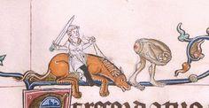 Gorleston Psalter, England 14th century (British Library, Add 49622, fol. 102v)