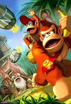 Donkey kong country by Dramegar Diddy Kong Retro Video Games, Video Game Art, Retro Games, Metroid, Wallpapers En Hd, Gaming Wallpapers, Get Off My Lawn, Mundo Dos Games, Super Mario Art