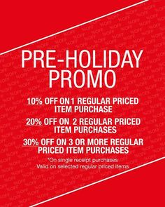 Great news to Terra & Agua loyal customers!  Check out Terra & Agua Pre-Holiday Promo!  Get up to 30% OFF on regular priced items!  Promo available from October 3 until November 27, 2016.  For more promo deals, VISIT http://mypromo.com.ph/! SUBSCRIPTION IS FREE! Please SHARE MyPromo Online Page to your friends to enjoy promo deals!