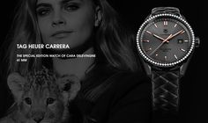 TAG HEUER CARRERA Special Editioin 41mm watch of Cara Delevingne.