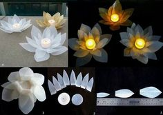 DIY floating lotus flowers