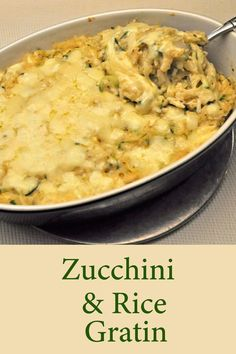 Rice and Summer Squash Gratin, an easy, savory side dish for the end of summer. Use any #SummerSquash #ZucchiniGratin #RiceSquashGratin #RecipesForTwo Cooking For Two, Meals For Two, Bacon Recipes, Cooking Recipes, Easy Dinner Recipes, Easy Meals, Zucchini Rice, Easy Recipes For Beginners, Summer Side Dishes
