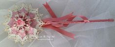 Fairy wand made with Spellbinders.