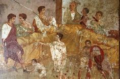 What did people eat in Ancient Rome? The upper-classes ate meat, especially pork and fish, and the general population ate mainly cereals (wheat, emmer, barley) mixed with chickpeas, lentils, turnips, lettuce, leek, cabbage, and fenugreek. Olives, grapes, apples, plums and figs provided welcome relief from the traditional forms of thick, cereal-based porridge (tomatoes and potatoes were a much later introduction to the Mediterranean). Milk, cheese, eggs and bread were also daily staples.