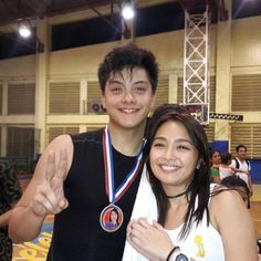 This is Kathryn Bernardo feeling happy for Daniel Padilla after having Daniel and the Roborats Basketball Team win the basketball game during the Pangako Sa 'Yo Basketball Tournament after a day of taping of the remake of Pangako Sa 'Yo last February 18, 2016. Kathryn was very happy and proud for Daniel during the game and they're very happy and enthusiastic. :-) #KathNiel #KathNielBernadilla #PangakoSaYo #PangakoSaYoBasketballTournament #Roborats #RoboratsBasketball