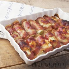 Leek rolls with bacon and honey goat cheese/Preirolletjes met spek en geitenkaas Dutch Recipes, Clean Recipes, Wine Recipes, Cooking Recipes, Healthy Recipes, Tapas, Oven Dishes, Quick Easy Meals, Food Inspiration