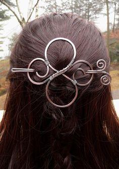 hair slide celtic hair barrette hair clips for by fancyyoudesigns