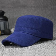 221a77f19af  AETRENDS  Winter Flat Hats for Men 100% Cotton Warm Baseball Cap