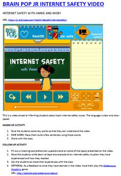 TASK 1.2. Online Safe Activities using Brainpop