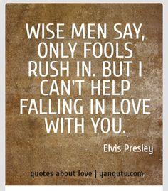 Falling in love...