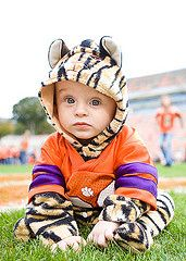 Clemson Girl Gameday Photos - Best Tailgating Photos - Kids and Pets